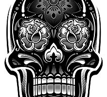 Muerte Sugar Skull - Digital Print by Arek619