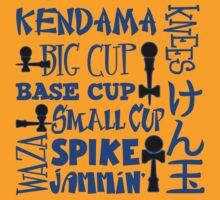 Kendama Word Block, blue by gotmoxy
