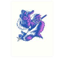 Just the Ninja Yeti Art Print