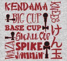 Kendama Word Block, red by gotmoxy