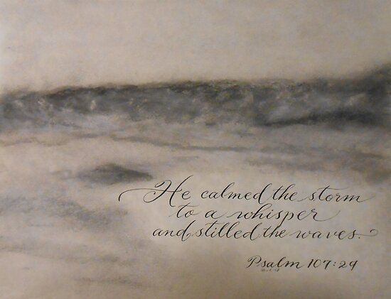 """He Calmed the Storm"" by Melissa Goza"
