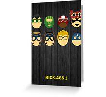 Minimalist Posters: Kick-Ass 2 Greeting Card