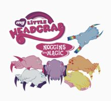 My Little Headcrab: Noggins are Magic T-shirts & Sticker by Disconcerting