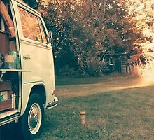 Vintage Van on Farm by VWScully