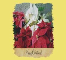 Mixed color Poinsettias 3 Merry Christmas S2F1 Kids Clothes