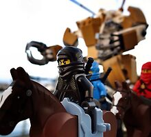 Black Ninja on Horseback by bricksailboat