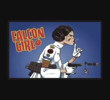Princess Leia Falcon Girl Tank Girl by apocalypsebob