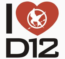 I Love District 12 Shirt - Hunger Games by glucern