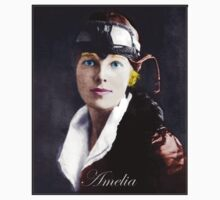 Amelia Earhart Old Photo Remastered by VampicaX