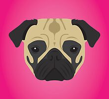 Pug by threeblackdots