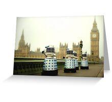 Daleks In London Greeting Card