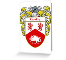 Cassidy Coat of Arms/Family Crest Greeting Card