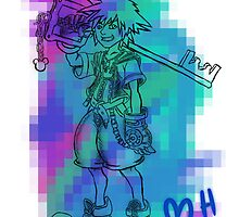 Kingdom Hearts: Pixel Sora by holeymoley