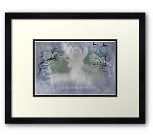 MIDNIGHT ANGEL OF PEACE/ for all you wonderful artist friends Framed Print