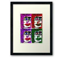 Four Faces Doodle Design Framed Print