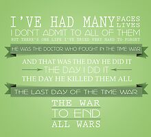 End All Wars (50th Anniversary, The Day of the Doctor, Doctor Who) by graceonastring