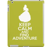 Keep Calm and Find Adventure (Belle, Beauty and the Beast) iPad Case/Skin