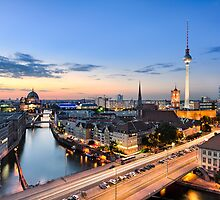 Berlin Skyline Panorama by Michael Abid
