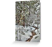 Snowy Mountain Creek Greeting Card