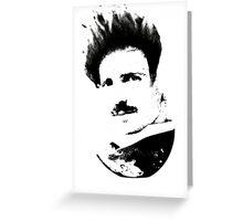 Postmodern Tesla Black Greeting Card