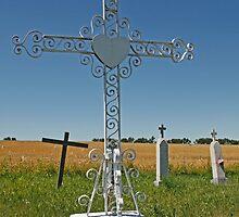 Cross and Graveyard by Gary Horner