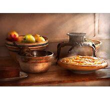 Food - Pie - Mama's peach pie Photographic Print