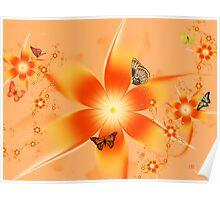 Garden of Butterflies Poster