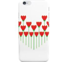 I Love Red Flowers iPhone Case/Skin