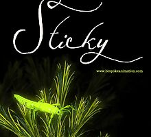 """Sticky"" short film - the Green Nymph of Hope poster by Jilli Rose"