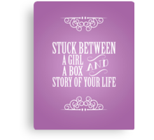 A Girl and a Box, Doctor Who 50th Anniversary The Day of the Doctor Typography Print Canvas Print