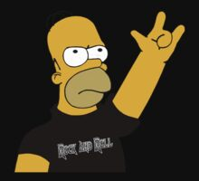 Homer Simpson Rock & Roll - Barbarian NS font by NejiHyugguh