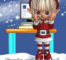 Elf Social Network Christmas Card by Moonlake