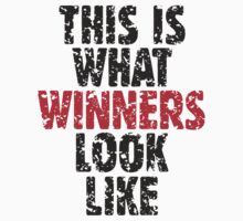 THIS IS WHAT WINNERS LOOK LIKE (Black Red) by theshirtshops