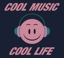 Cool Music Cool Life  Pink decoration Clothing & Stickers by goodmusic