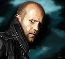 Jason Statham portrait II by Richard Eijkenbroek