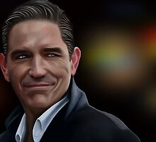 Jim Caviezel as John Reese by Richard Eijkenbroek