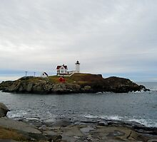 Nubble Lighthouse In December by Uni356