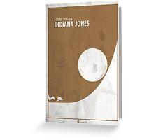 Indiana Jones Minimal Film Poster Greeting Card