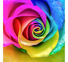 Rainbow Rose Photographic Print