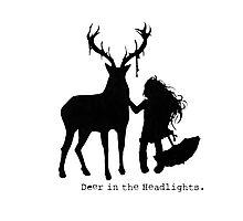 Deer in the Headlights Photographic Print
