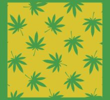 Yellow leafs background by KushDesigns