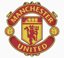 Manchester United Futbol/Football/Soccer Sticker by iArt Designs