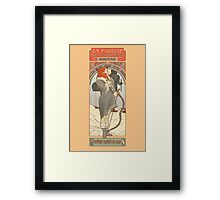 The flame-haired spearwife Framed Print
