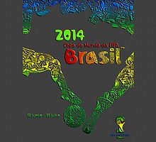 World Cup Brazil 2014 [Leather Black 2] by Vidka Art