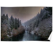 McKenzie River ~ Snow ~ Poster