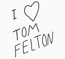 """I ❤ Tom Felton"" replica tee by LovelieeJ92"