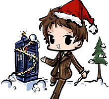Doctor Who - Merry Christmas Card by tinylittlebird