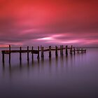 Binstead Hard Jetty Sunset by manateevoyager