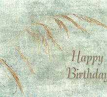 Happy Birthday Greeting Card - Wild Grass by MotherNature2