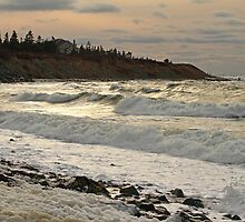 Chrome Afternoon Sea, Sandford N.S. by Debbie  Roberts